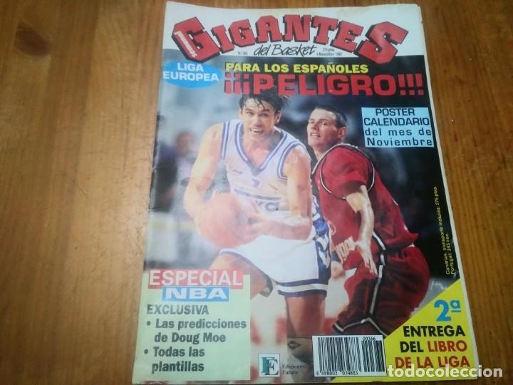 REVISTA DE GIGANTES DEL BASKET AÑO 1992 N° 366 REAL MADRID PÓSTER CHRIS MORRIS NEW JERSEY NETS (Coleccionismo Deportivo - Libros de Baloncesto)