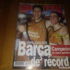 Coleccionismo deportivo: REVISTA DE GIGANTES DEL BASKET AÑO 1999 N° 708 PÓSTER RODRIGO LA FUENTE BARCELONA MILAN GUROVIC . Lote 164803598