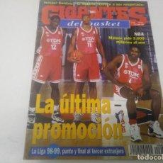 Collezionismo sportivo: REVISTA DE GIGANTES DEL BASKET AÑO 1998 N° 669 ISMAEL SANTOS POSTER ARTURAS KARNISOVAS LITUANIA. Lote 166336494