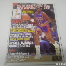 Coleccionismo deportivo: REVISTA DE BASKET 16 AÑO 1988 N° 64. Lote 166573666