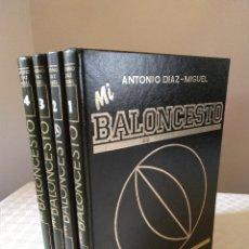 Coleccionismo deportivo: MI BALOCESTO ANTONIO DIAZ MIGUEL. COMPLETA 4 TOMOS. EDITORIAL SOMA. LEER DESCRIPCION. Lote 169009408