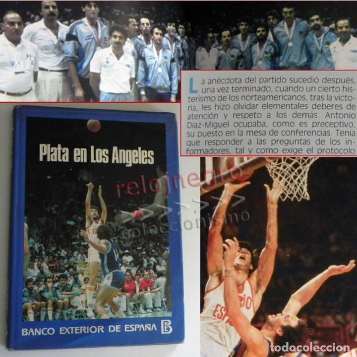 PLATA EN LOS ÁNGELES LIBRO BALONCESTO HISTORIA JJOO DEPORTE SELECCIÓN JUEGOS OLÍMPICOS ESPAÑA MEDALL (Coleccionismo Deportivo - Libros de Baloncesto)