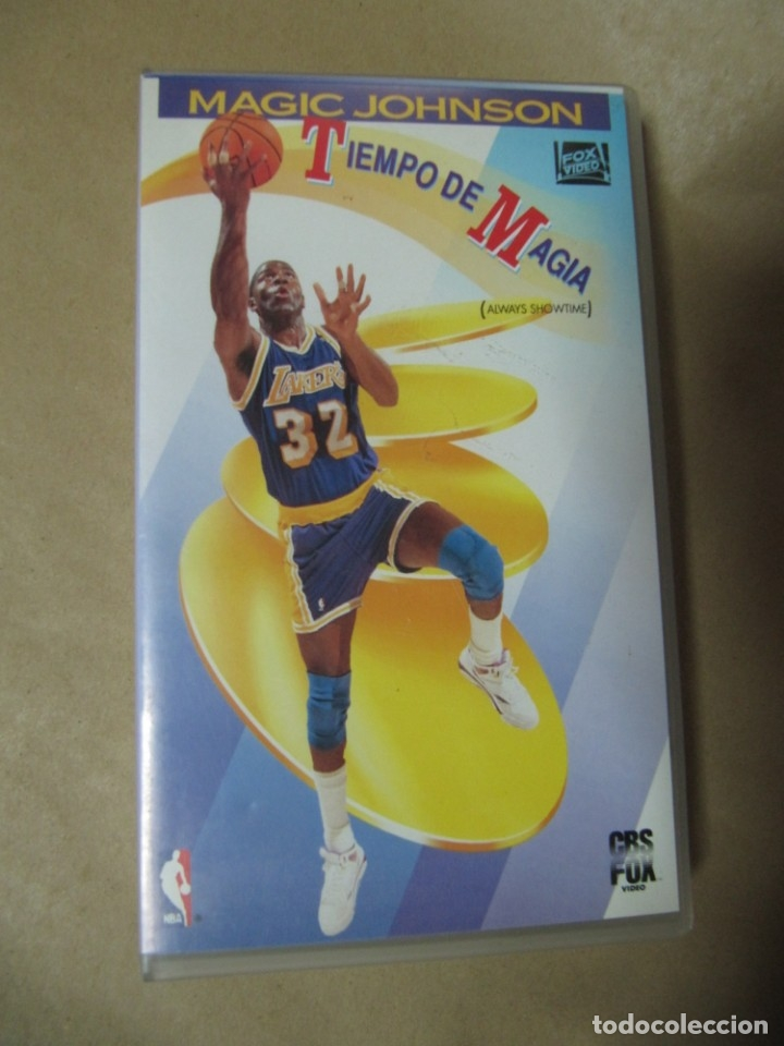 Coleccionismo deportivo: PELICULA DE VIDEO VHS CBS FOX NBA TIEMPO DE MAGIA MAGIC JOHNSON BALONCESTO - Foto 1 - 175563664