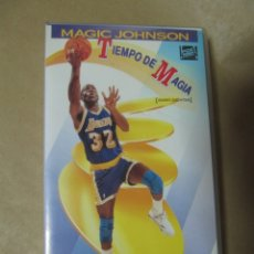Coleccionismo deportivo: PELICULA DE VIDEO VHS CBS FOX NBA TIEMPO DE MAGIA MAGIC JOHNSON BALONCESTO . Lote 175563664
