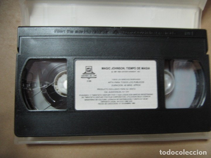 Coleccionismo deportivo: PELICULA DE VIDEO VHS CBS FOX NBA TIEMPO DE MAGIA MAGIC JOHNSON BALONCESTO - Foto 3 - 175563664
