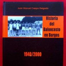 Coleccionismo deportivo: HISTORIA DEL BALONCESTO EN BURGOS. 1940 - 2000. BUEN ESTADO. AÑO: 2005. JUAN MANUEL CRESPO DELGADO.. Lote 175614040