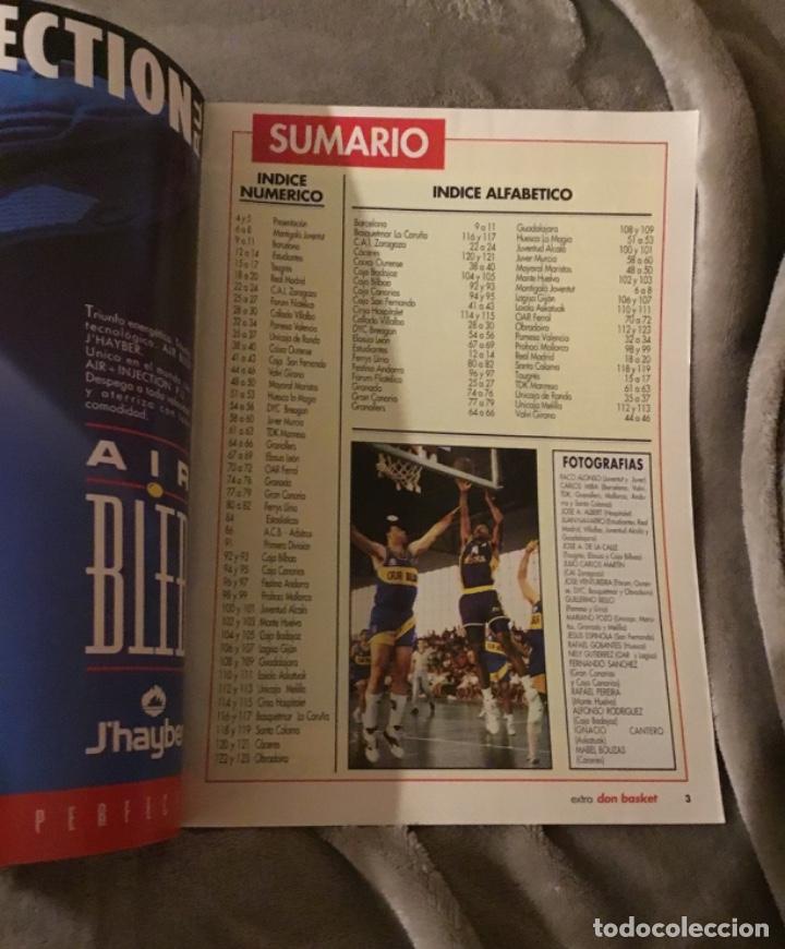 Coleccionismo deportivo: Extraordinario extra liga 91 92 Don basket Impecable estado - Foto 4 - 181941826