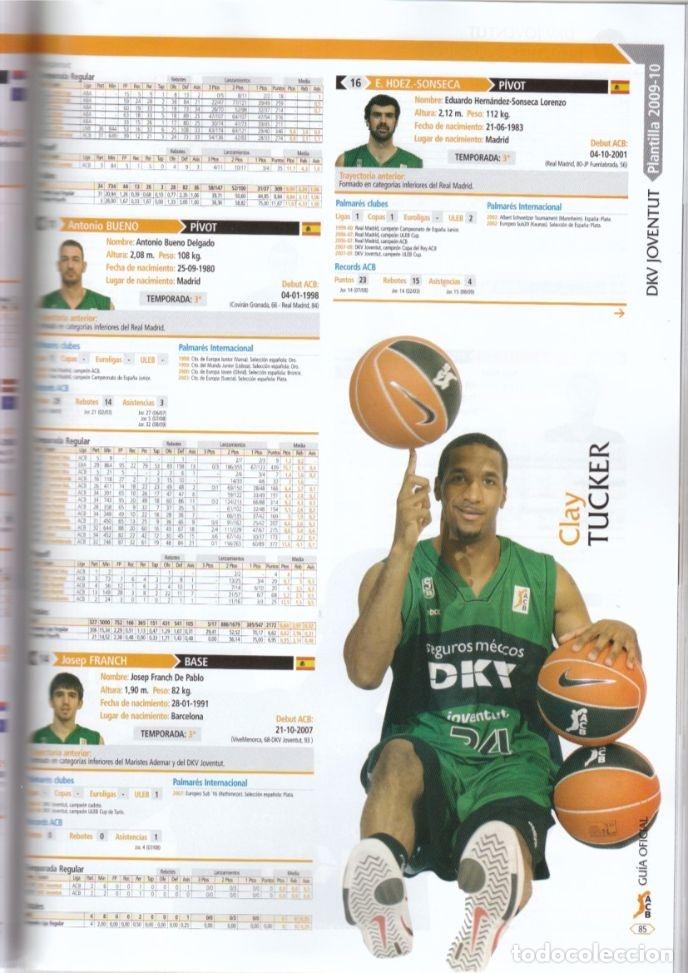 Coleccionismo deportivo: GUÍA ACB 2009-10 (AMINFORMACIÓN) - Foto 2 - 182179108