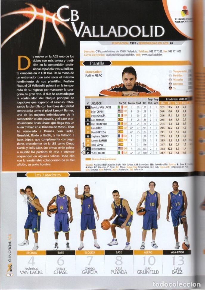 Coleccionismo deportivo: GUÍA ACB 2009-10 (AMINFORMACIÓN) - Foto 3 - 182179108