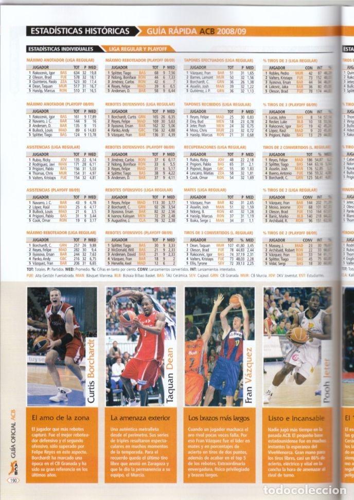 Coleccionismo deportivo: GUÍA ACB 2009-10 (AMINFORMACIÓN) - Foto 4 - 182179108