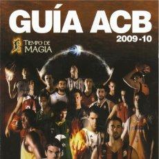 Coleccionismo deportivo: GUÍA ACB 2009-10 (AMINFORMACIÓN). Lote 182179108