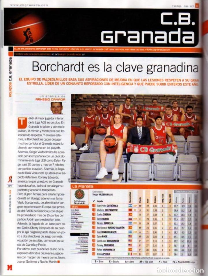 Coleccionismo deportivo: GUÍA MARCA DE BALONCESTO ACB 2008 - Foto 2 - 182179132