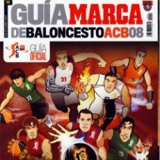Coleccionismo deportivo: GUÍA MARCA DE BALONCESTO ACB 2008. Lote 182179132