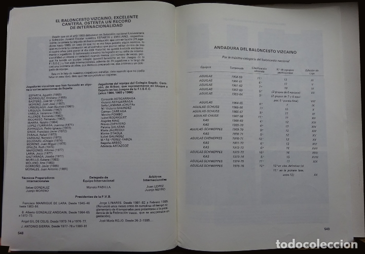 Coleccionismo deportivo: HISTORIA DEL BALONCESTO VIZCAINO 1934/35 - 1984/85 - Foto 4 - 182179561