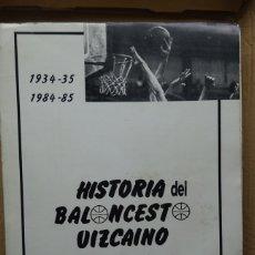 Coleccionismo deportivo: HISTORIA DEL BALONCESTO VIZCAINO 1934/35 - 1984/85. Lote 182179561