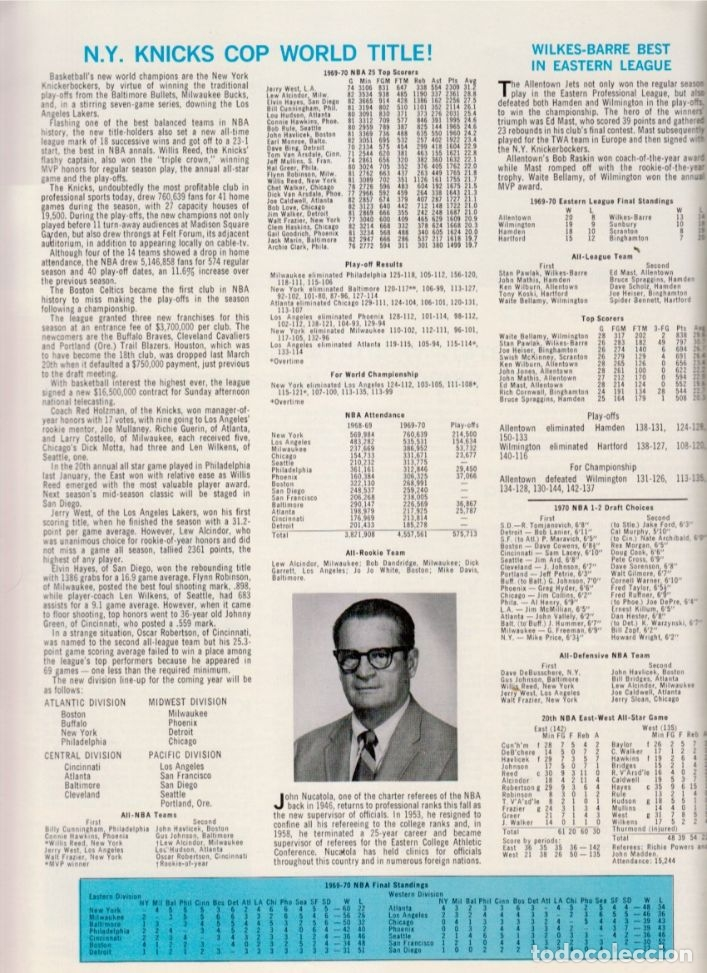 Coleccionismo deportivo: CONVERSE 1970 BASKETBALL YEARBOOK - Foto 2 - 182179683