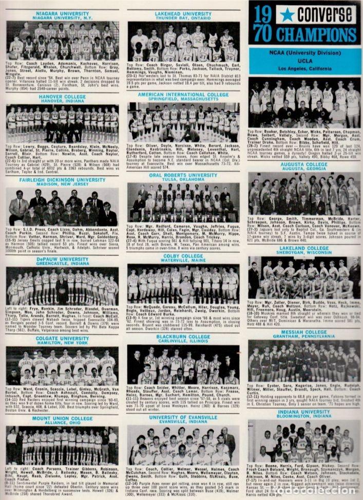 Coleccionismo deportivo: CONVERSE 1970 BASKETBALL YEARBOOK - Foto 3 - 182179683