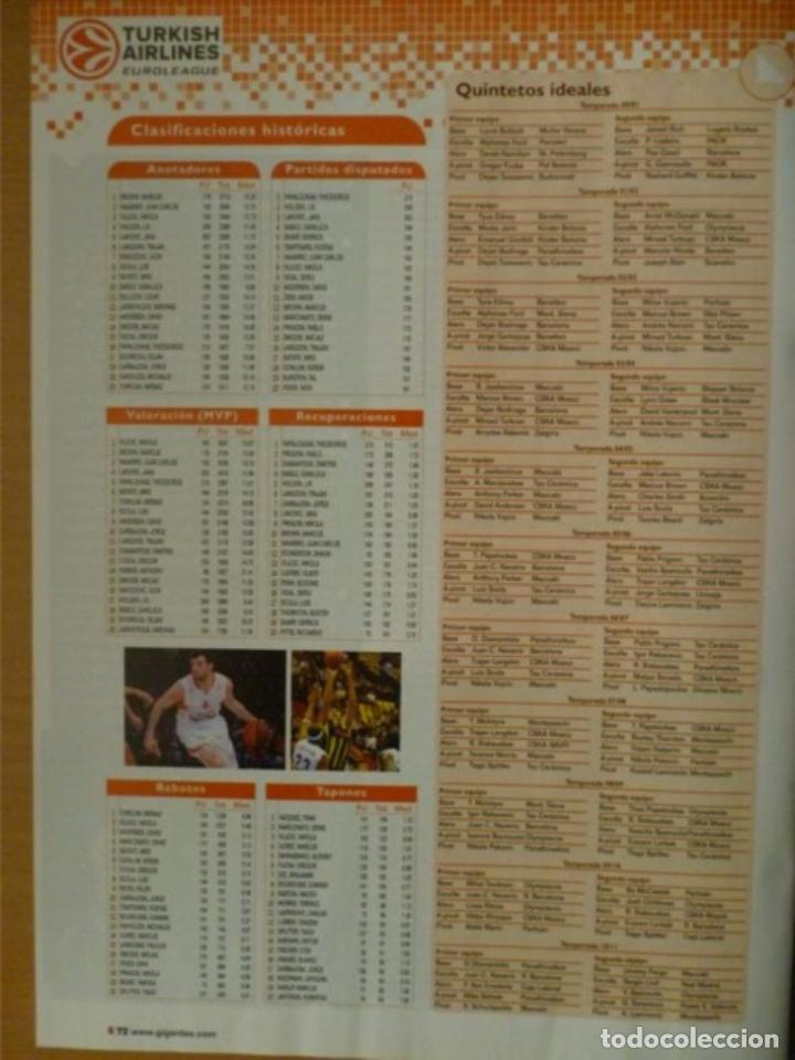 Coleccionismo deportivo: GIGANTES DEL BASKET Nº 1355 - GUÍA DE LA EUROLIGA 2011/12 - Foto 2 - 182180417