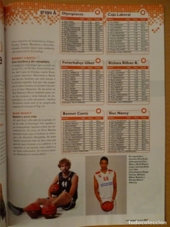 Coleccionismo deportivo: GIGANTES DEL BASKET Nº 1355 - GUÍA DE LA EUROLIGA 2011/12 - Foto 3 - 182180417