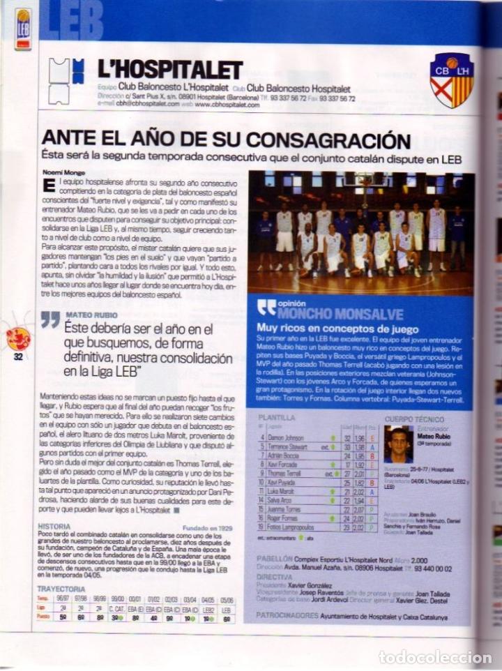 Coleccionismo deportivo: GUÍA DEL BALONCESTO 07 MARCA. LEB-LEB2-EBA-FEMENINAS. - Foto 2 - 182180431
