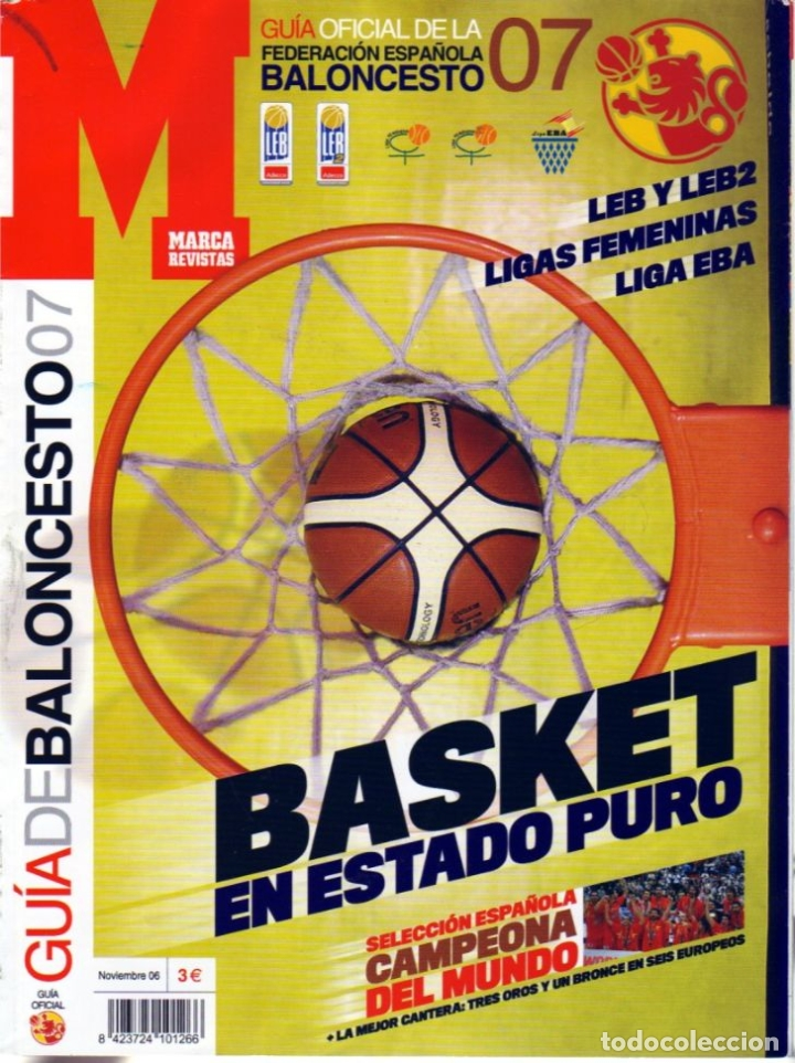 GUÍA DEL BALONCESTO 07 MARCA. LEB-LEB2-EBA-FEMENINAS. (Coleccionismo Deportivo - Libros de Baloncesto)