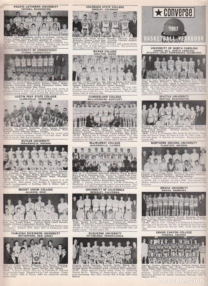 Coleccionismo deportivo: CONVERSE 1967 BASKETBALL YEARBOOK - Foto 2 - 182181168