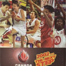 Coleccionismo deportivo: CANADA BASKETBALL 2002 THE NEXT STEP. Lote 182181332