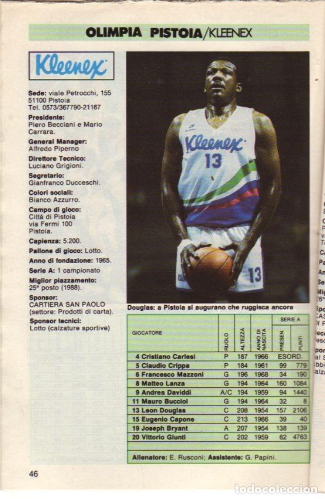 Coleccionismo deportivo: GUIDA CAMPIONATO DI BASKET 1988/89 - Foto 2 - 182181511