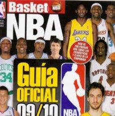 Colecionismo desportivo: BASKET LIFE NBA GUÍA OFICIAL 09/10. Lote 182182421
