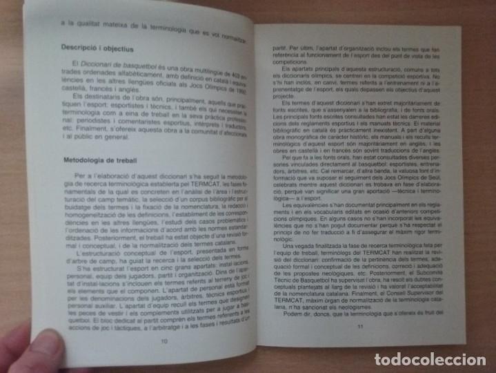 Coleccionismo deportivo: DICCIONARI DE BASQUETBOL (1991) - GENERALITAT DE CATALUNYA (ENCICLOPEDIA CATALANA) - Foto 5 - 182806720