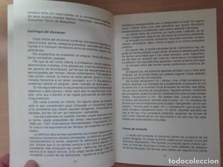 Coleccionismo deportivo: DICCIONARI DE BASQUETBOL (1991) - GENERALITAT DE CATALUNYA (ENCICLOPEDIA CATALANA) - Foto 6 - 182806720