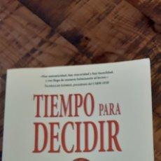 Coleccionismo deportivo: TIEMPO PARA DECIDIR - LA GESTIÓN DE LA ADVERSIDAD DESDE LOS VALORES DEL BALONCESTO- RAÚL CASTRO-. Lote 186138168