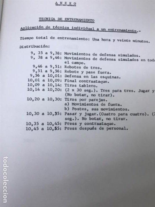 Coleccionismo deportivo: LIBRO DE APUNTES De baloncesto 1978 ANPEB antonio diaz miguel l. Carnesseca s gamba a gomez carra o - Foto 11 - 188786041