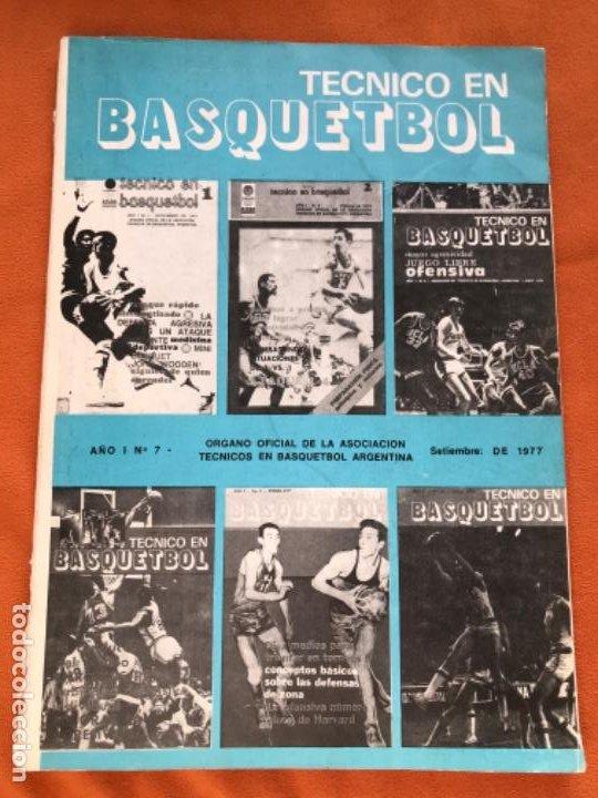 TECNICO EN BASQUETBOL 1977 REVISTA DE BALONCESTO ASOCIACION OFICIAL TECNICOS ARGENTINA BASKET N 7 (Coleccionismo Deportivo - Libros de Baloncesto)