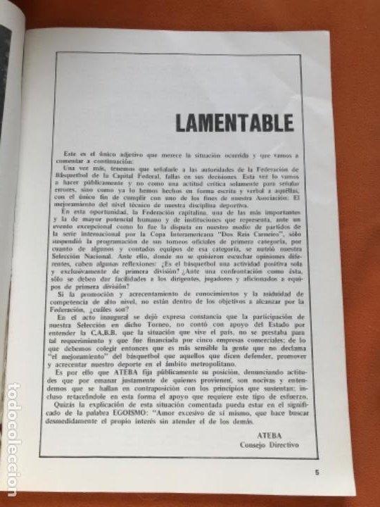 Coleccionismo deportivo: Tecnico en basquetbol 1977 revista de baloncesto asociacion oficial tecnicos argentina basket n 7 - Foto 4 - 189165122