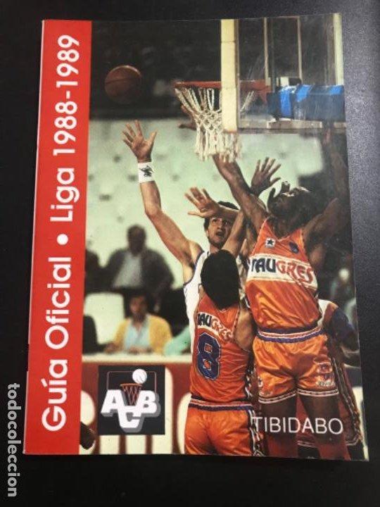 BALONCESTO GUÍA OFICIAL LIGA 1988 /89 ASOCIACIÓN DE CLUBS DE BALONCESTO TIBIDABO (Coleccionismo Deportivo - Libros de Baloncesto)
