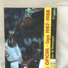 Coleccionismo deportivo: BALONCESTO GUÍA OFICIAL LIGA 1987/88 ASOCIACIÓN DE CLUBS DE BALONCESTO TIBIDABO. Lote 189176951