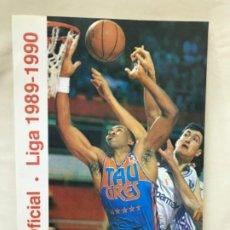 Coleccionismo deportivo: BALONCESTO GUÍA OFICIAL LIGA 1989/90 ASOCIACIÓN DE CLUBS DE BALONCESTO TIBIDABO. Lote 189177168