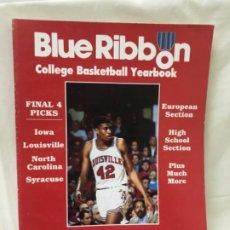 Coleccionismo deportivo: ANUARIO BALONCESTO AMERICANO 1988/89 BLUE RIBBON COLLEGE BASKETBALL YEARBOOK BASQUET. Lote 189460635
