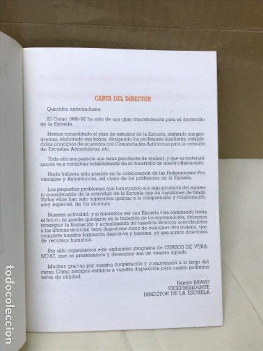 Coleccionismo deportivo: Baloncesto federacion española de baloncesto programa de actividades verano 1987 basket - Foto 2 - 191243933