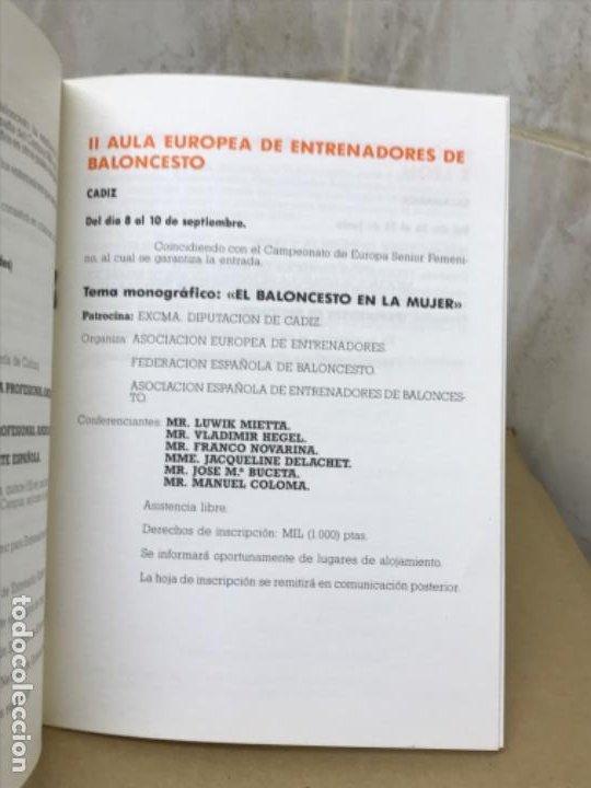 Coleccionismo deportivo: Baloncesto federacion española de baloncesto programa de actividades verano 1987 basket - Foto 3 - 191243933