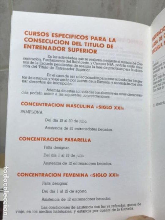 Coleccionismo deportivo: Baloncesto federacion española de baloncesto programa de actividades verano 1987 basket - Foto 4 - 191243933