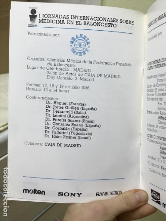 Coleccionismo deportivo: Baloncesto federacion española de baloncesto programa de actividades tecnicas mundobasker españa 86 - Foto 7 - 191244238