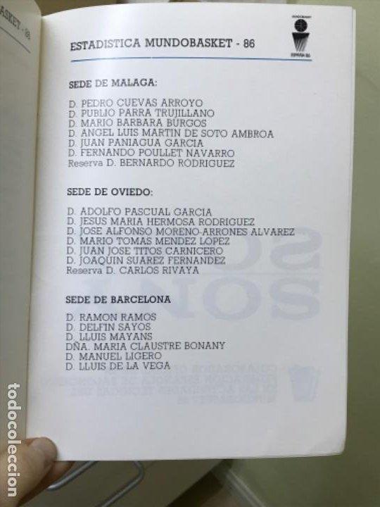 Coleccionismo deportivo: Baloncesto federacion española de baloncesto programa de actividades tecnicas mundobasker españa 86 - Foto 8 - 191244238