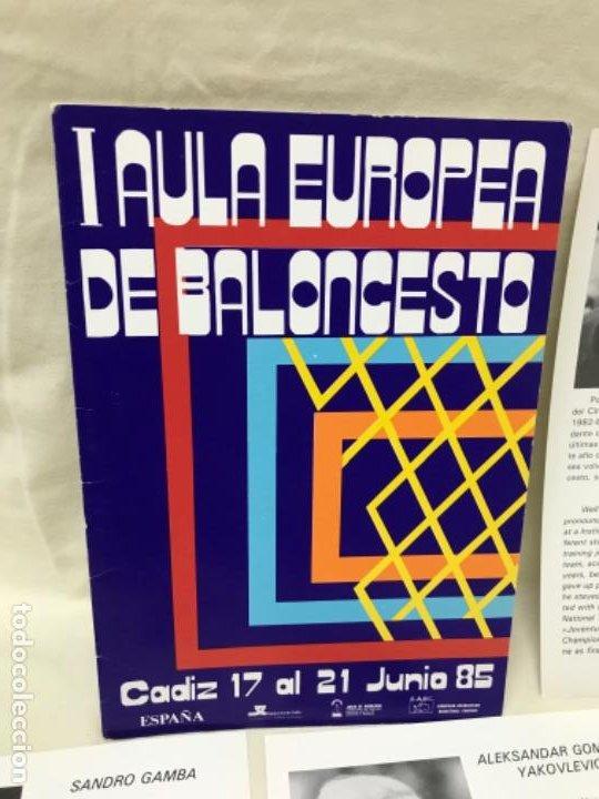 Coleccionismo deportivo: I aula española del baloncesto cadiz 1985 basket programa general y fichas 8 entrenadores - Foto 2 - 191610085
