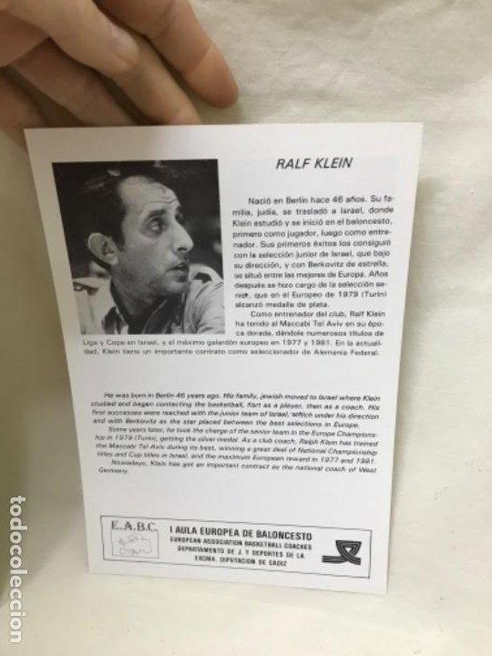Coleccionismo deportivo: I aula española del baloncesto cadiz 1985 basket programa general y fichas 8 entrenadores - Foto 9 - 191610085