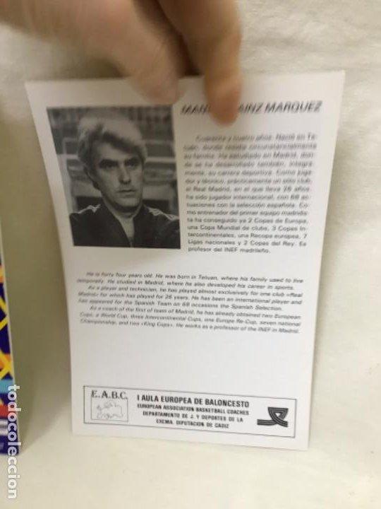 Coleccionismo deportivo: I aula española del baloncesto cadiz 1985 basket programa general y fichas 8 entrenadores - Foto 10 - 191610085