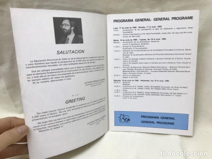 Coleccionismo deportivo: I aula española del baloncesto cadiz 1985 basket programa general y fichas 8 entrenadores - Foto 11 - 191610085