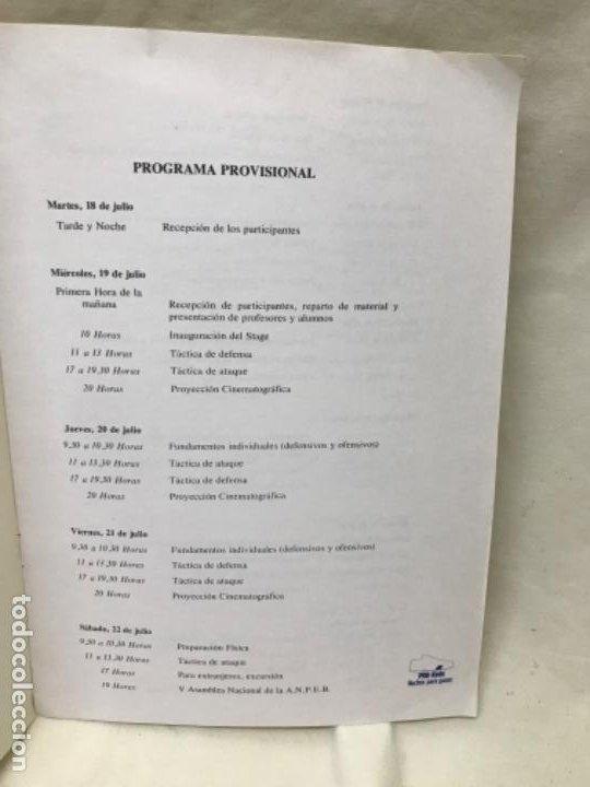 Coleccionismo deportivo: Baloncesto programa provisional ANPEB I stage hispano arabe asociacion mundial entrenadores basket - Foto 4 - 191610576