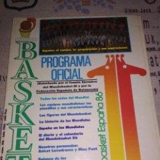 Coleccionismo deportivo: NUEVO BASKET. MUNDOBASKET ESPAÑA 1986. Lote 193969301